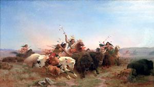 Carl Wimar's *The Buffalo Hunt* (1860)