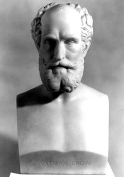 Harriet Hosmer, Portrait of Wayman Crow, Sr., 1866, Carrara marble