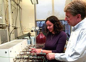 Bruce Fegley Jr., Ph.D., professor of earth and planetary sciences in Arts & Sciences, and Laura Schaefer, research assistant in the Planetary Chemistry Laboratory, have determined that the feature on Venus that looks like snow is composed of both lead and bismuth sulfides, settling a longtime controversy in the planetary community.