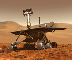 Artist's rendition of the rover on Mars.
