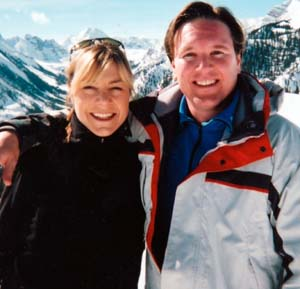 Sengelmann and her husband, Tamir Keshen, enjoy the slopes of Snowmass, Colo.