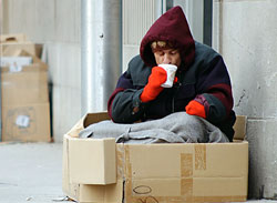 Alcohol and drug abuse remain the biggest problems among homeless individuals.