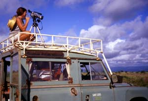Rosie Koch, a graduate student in the Division of Biological and Biomedical Sciences, films *All the Trappings* in Kenya.