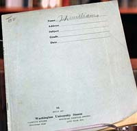 Tennessee Williams' 'blue' book