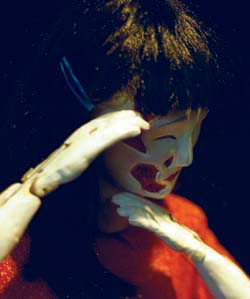 Japanese Bunraku-style puppetry and dance are combined in *Hiroshima Maiden*, which will make its St. Louis debut at 8 p.m. April 22-23 as part of the Edison Theatre OVATIONS! Series.