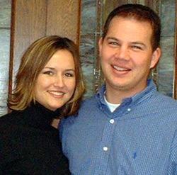 Melissa Straube with her fiancé Aaron Nehrt