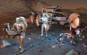 Mars Exploration Rover mission scientists remind us that the amazing success of the rovers *Spirit* and *Opportunity* is a harbinger for the day when humans inhabit the Red Planet.