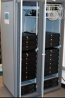 A router in the new Open Network Laboratory, funded by NSF.