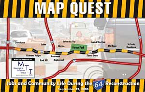 I-64 reconstruction map