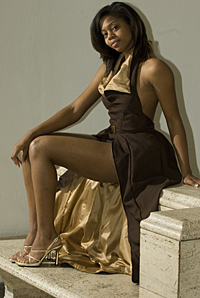 Ball gown by Jeffrey Taylor