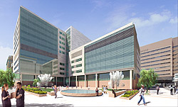 Artist's rendering of the new BJC Institute of Health at Washington University