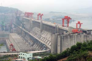 When complete, China's Three Gorges Dam on the Yangtze River will cost $25 billion and displace more than 1.4 million people.