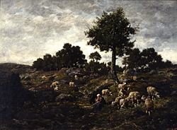 Charles Emile Jacque, *Landscape with Sheep* (19th century).