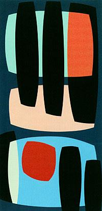 Karl Benjamin, *Black Pillars,* 1957.