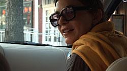 Elizabeth Peyton in *CHEW THE FAT (A documentary portrait by Rirkrit Tiravanija)*