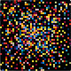 Ellsworth Kelly, *Spectrum Colors Arranged by Chance V,* 1951.