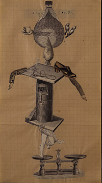 Victor Brauner, Jacques Hérold, Violette Hérold, Yves Tanguy and Raoul Ubac, *Untitled