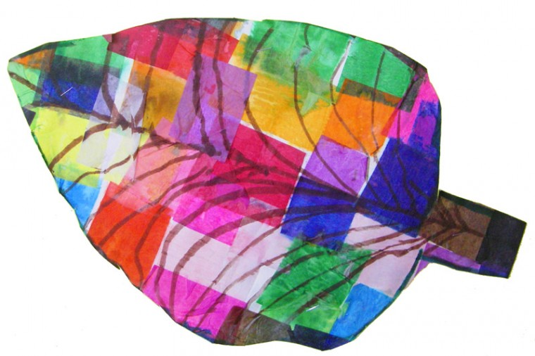 Multicolored leaf