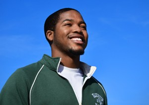Senior Greg Opara has received much-needed support from WUSTL's Center for Advanced Learning when applying to and interviewing for medical school as well as throughout his college career. (James Byard/WUSTL Photos)