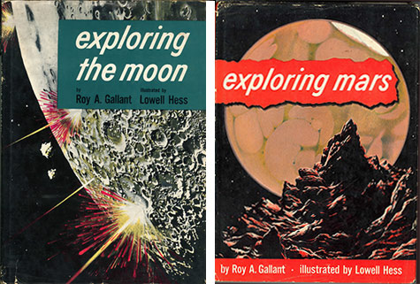 "McKinnon's youthful reading. The image to the right, which is reproduced inside the book as an illustration, is captioned ""Stationed on one of Mars' jagged moons, you have this view of the Red Planet, which changes color with the seasons."" The reason Mars looks like peach Jell-O with banana slices is that's all astronomers could see at the time. In the days before satellites, author Roy Gallant said, they would have needed ""a large, air-free tunnel from Earth to Mars"" to see Mars clearly."
