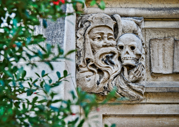 FRANCIS FIELDHOUSE: WashU's first grotesques and bosses were the creations of ­Philadelphia's Walter Cope and John ­Stewardson — the architectural firm selected in 1899 to design the then-Hilltop Campus. (Photo: James Byard)