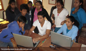 Gold Mountain Coffee Growers provides computer classes and other services to Nicaraguan coffee producers and families.