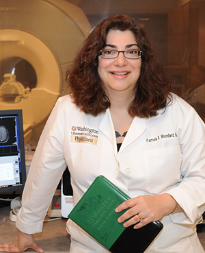 Pamela Woodard, MD, led a team that designed a new imaging agent that may light up dangerous plaque in arteries.