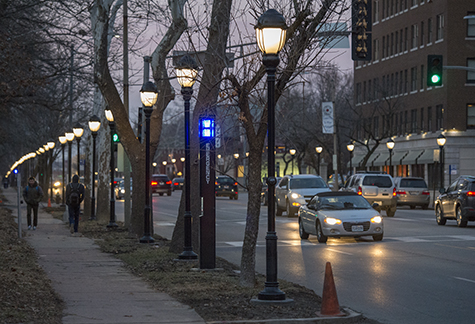 skinker boulevard brighter thanks to new pedestrian lamps improved