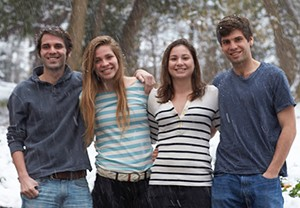 From left, O'Keefe's children Daniel, Abby, Kayli and Patrick