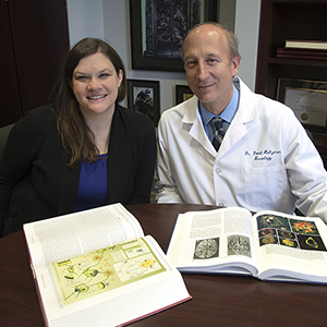 Shannon Macauley, PhD, and David Holtzman, MD, neurology researchers at Washington University School of Medicine in St. Louis, have found a new link between Alzheimer's disease and diabetes. Their research, in mice, suggests elevated blood sugar can harm brain function. Photo: Robert Boston