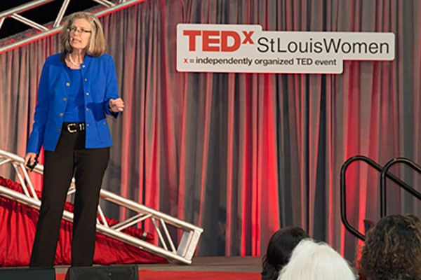 Fraser speaks about antibiotic resistance at TEDxStLouisWomen conference