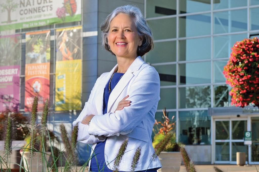 07.23.2014 - Debora McDonald Frank, Vice President of Sustainability for the Missouri Botanical Gardens. James Byard/ WUSTL Photos