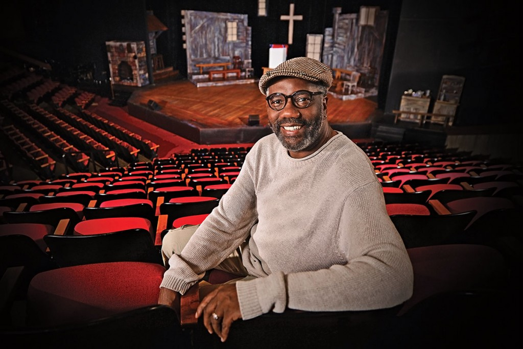 09.15.14-Ron Himes in the Edison Theatre. James Byard / WUSTL Photos