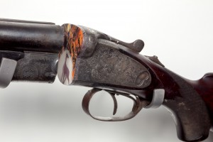 Artwork made from decommissioned shotgun.