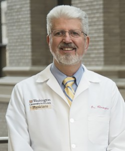 Using advanced brain imaging, Washington University psychiatrist C. Robert Cloninger, MD, PhD, and fellow researchers have matched certain behavioral symptoms of schizophrenia to features of the brain's anatomy. The finding could be a step toward improving diagnosis and treatment of schizophrenia. (Photo: Bob Boston)