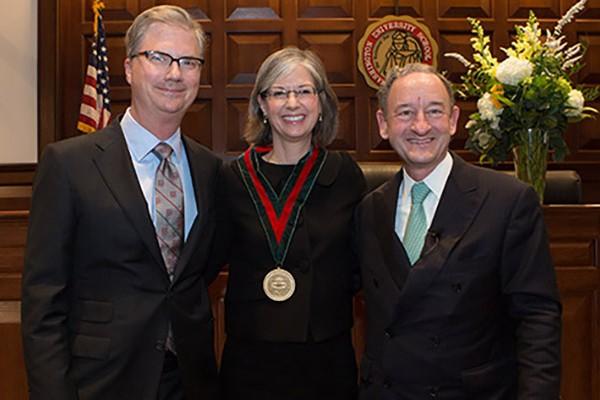 Staudt installed as inaugural Howard and Caroline Cayne Professor ofLaw