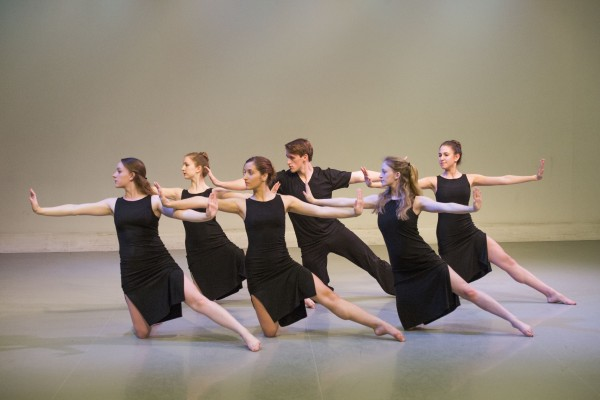 "Student dancers will perform Taeko Ito's ""Pavane"" Dec. 4-6 in Edison Theatre as part of Washington University Dance Theatre. The piece is a tribute to Ito's uncle, the modern dance pioneer Michio Ito. (Credit: Joe Angeles/WUSTL Photo (3))"