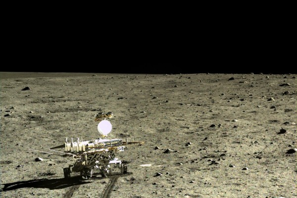 Chinese rover on the moon.