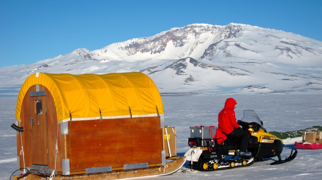 Conestoga wagon in West Antarctica