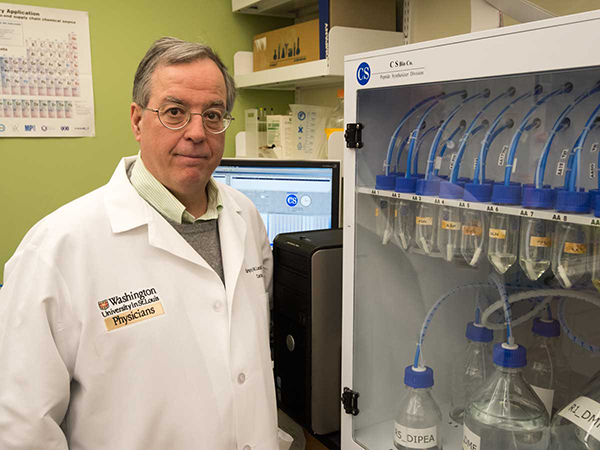 Gregory Lanza, MD, PhD, is co-director of the Center for Multiple Myeloma Nanotherapy at Washington University. He and other researchers at the center have been awarded $13.7 million to develop new treatments for multiple myeloma, a cancer of the immune system. Photo: Robert Boston