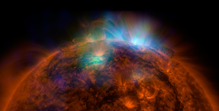 X-ray image of solar flares