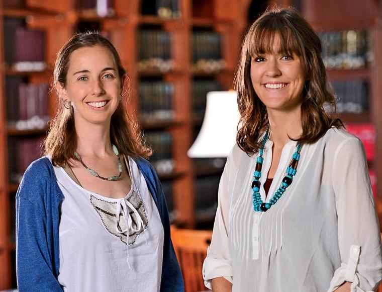 Alumnae Jessica Mayo and Nicole Cortes