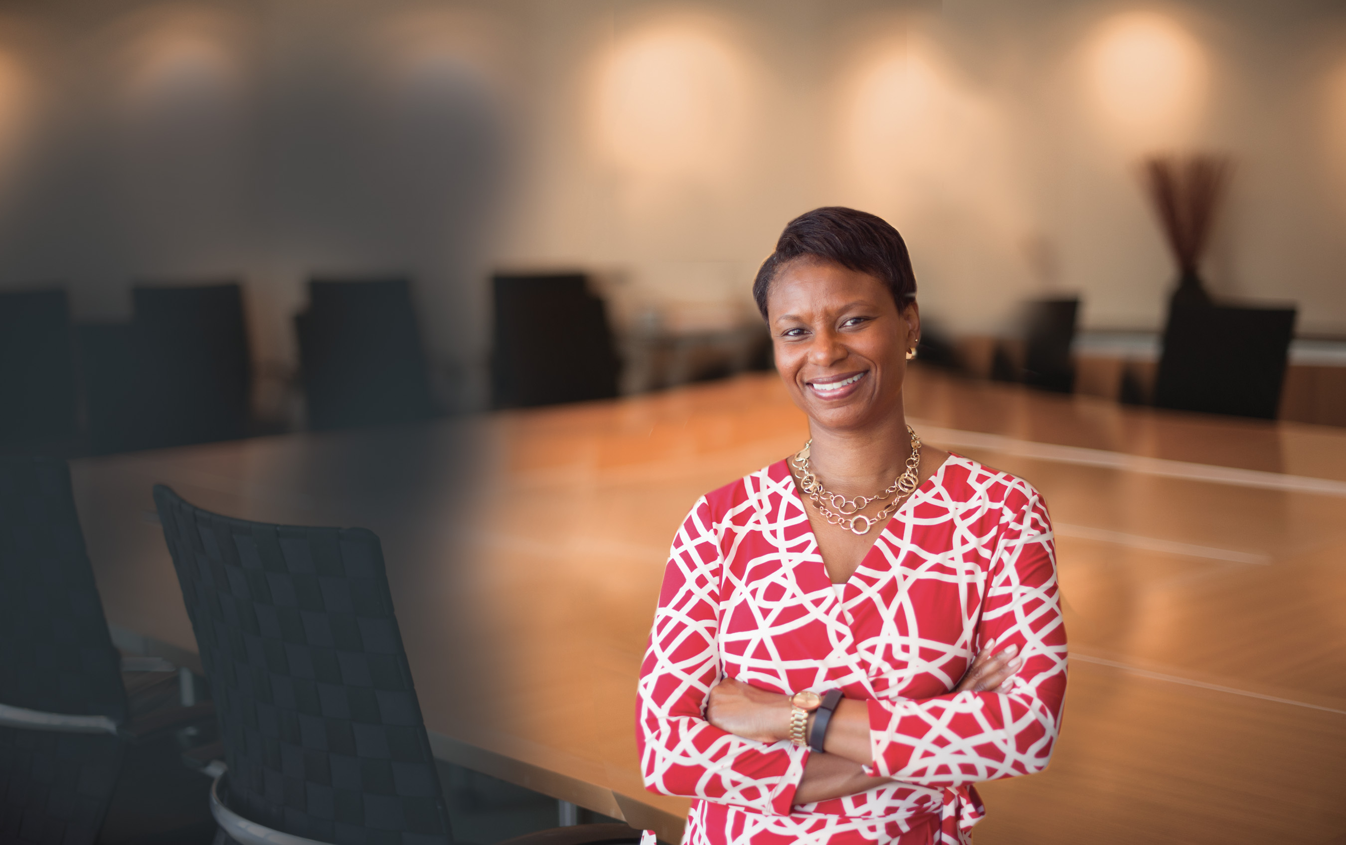 6.29.2015--Kelli P. Washington, BSBA '94, is quick to attribute a large part of her success to her undergraduate experience at Washington University — the education she received and the relationships she developed as a student have proven to be invaluable. It began with a full-tuition scholarship to attend Olin Business School, sponsored by Larry Thomas, BSBA '77. A university trustee and partner with Edward Jones, Thomas served as Washington's mentor and encouraged her to take a position with his firm after she earned her degree. Washington stayed with Edward Jones for 10 years and now works as managing director for Cambridge Associates, LLC, in the Washington D.C. area. Photos by: Andres Alonso/WUSTL Photos