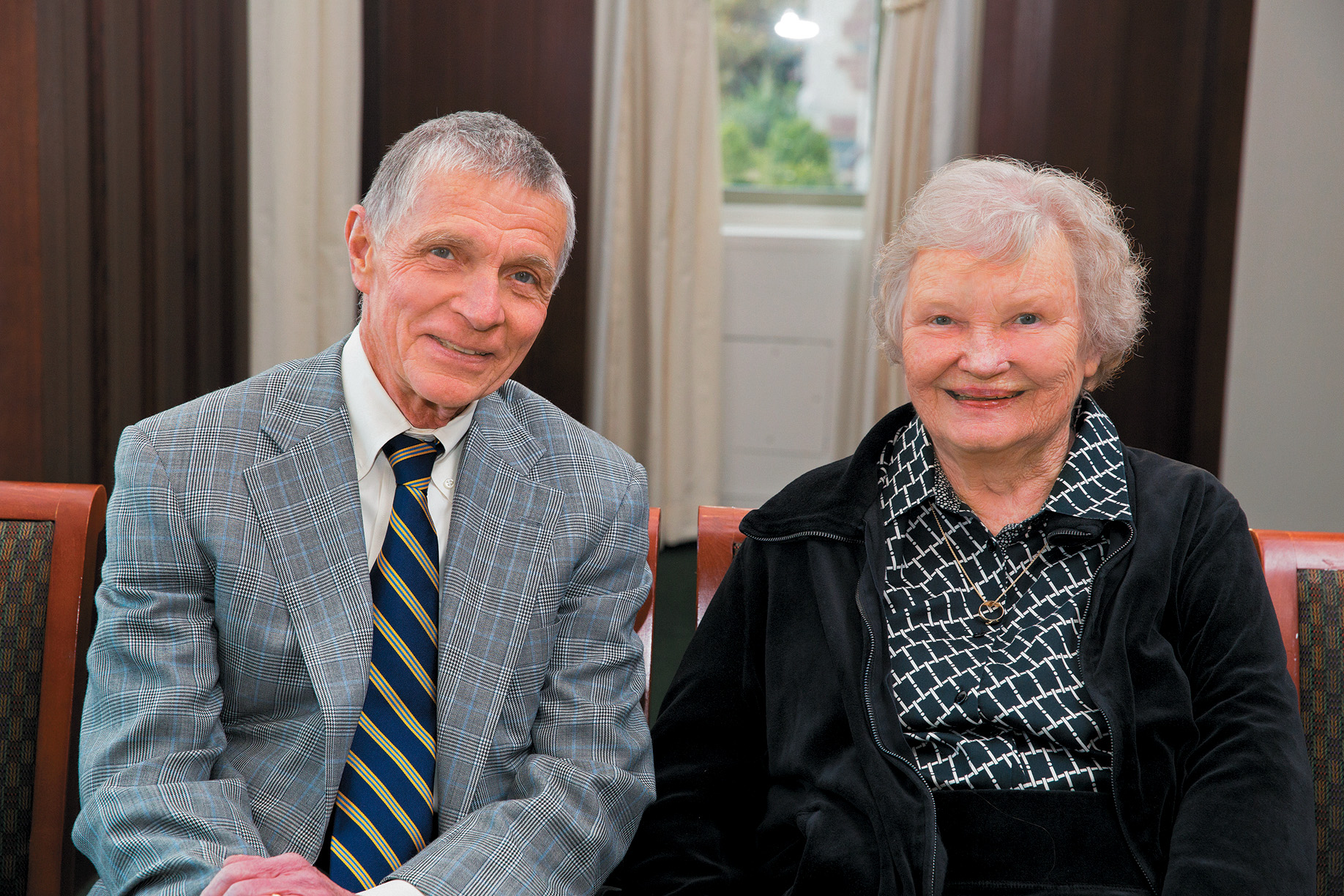 Bob Virgil, pictured here with his wife, Gerry, serves as scholarships chair for Leading Together: The Campaign for Washington University. (Photo: Whitney Curtis)