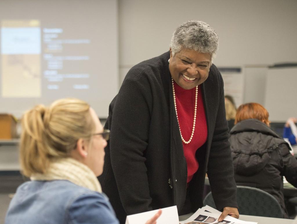 Alfreda Brown leading staff workshop