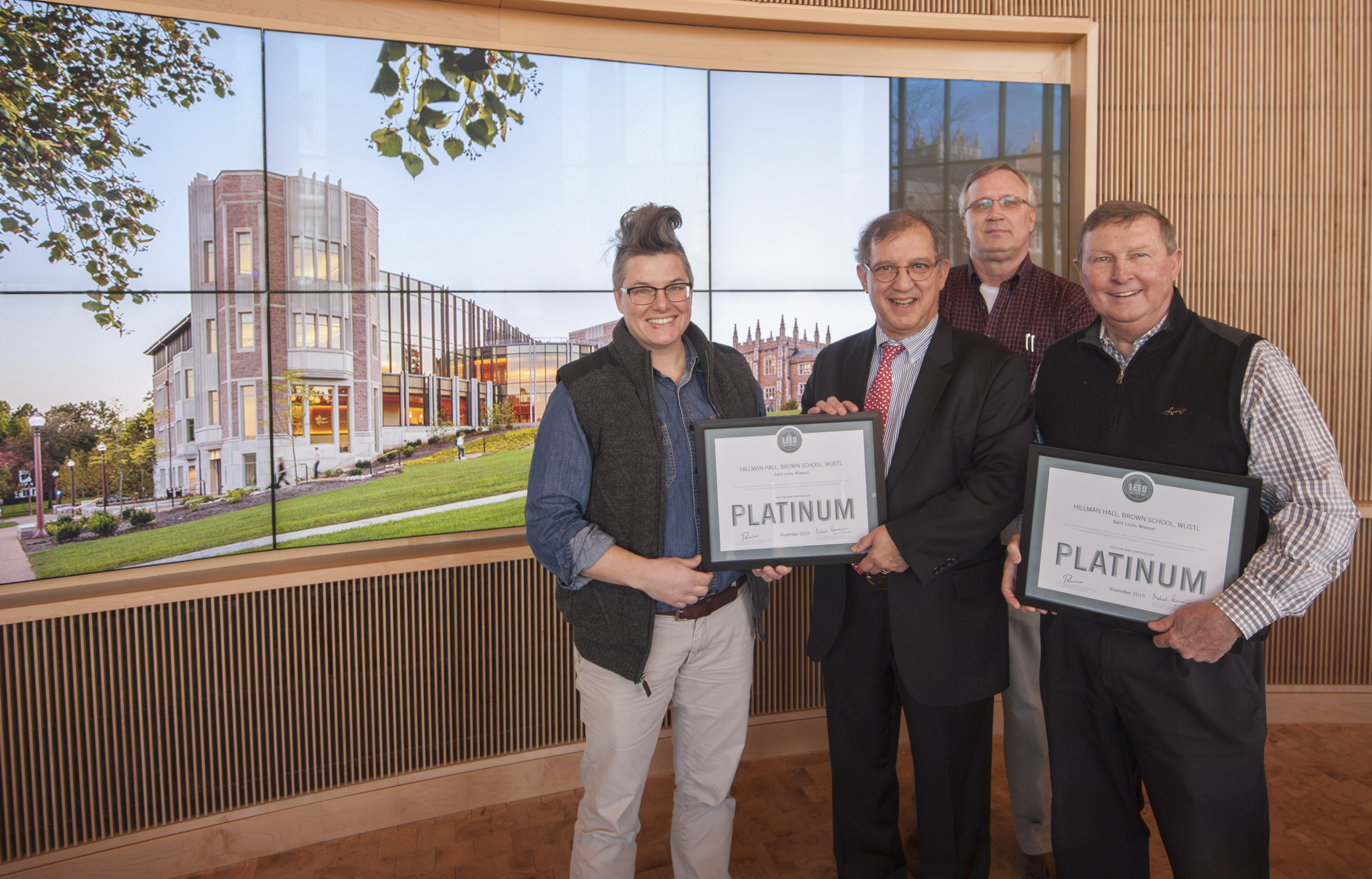 Hillman Hall Receives Leed Platinum Certification The