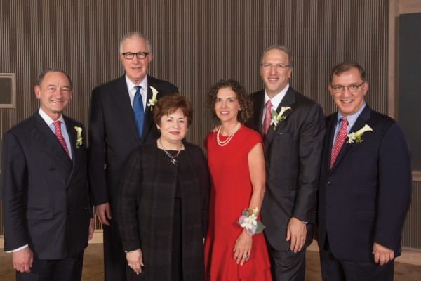 10.2.2015--Hillman Hall Dedication & Dinner-- Dedication Speakers: Mark Wrighton, Chancellor; Edward Lawlor, Dean of the Brown School; Strobe Talbott, President, Brookings Institution; Thomas & Jennifer Hillman; Mobolaji Fowose, MPH Candidate, '16; Prof. Nancy Morrow-Howell. Dinner Speakers: Mark Wrighton, Chancellor; Edward Lawlor, Dean of the Brown School; Thomas & Jennifer Hillman; Craig Kielburger, Co-Founder, Free The Children, Me to We, We Day. Photo by Joe Angeles/WUSTL Photos