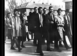 Henry Hampton marches in Selma