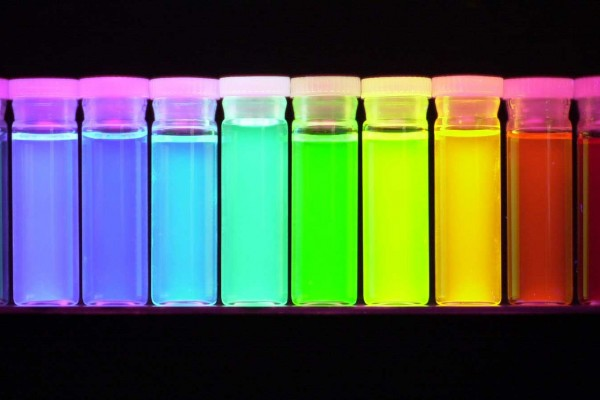 Colored vials