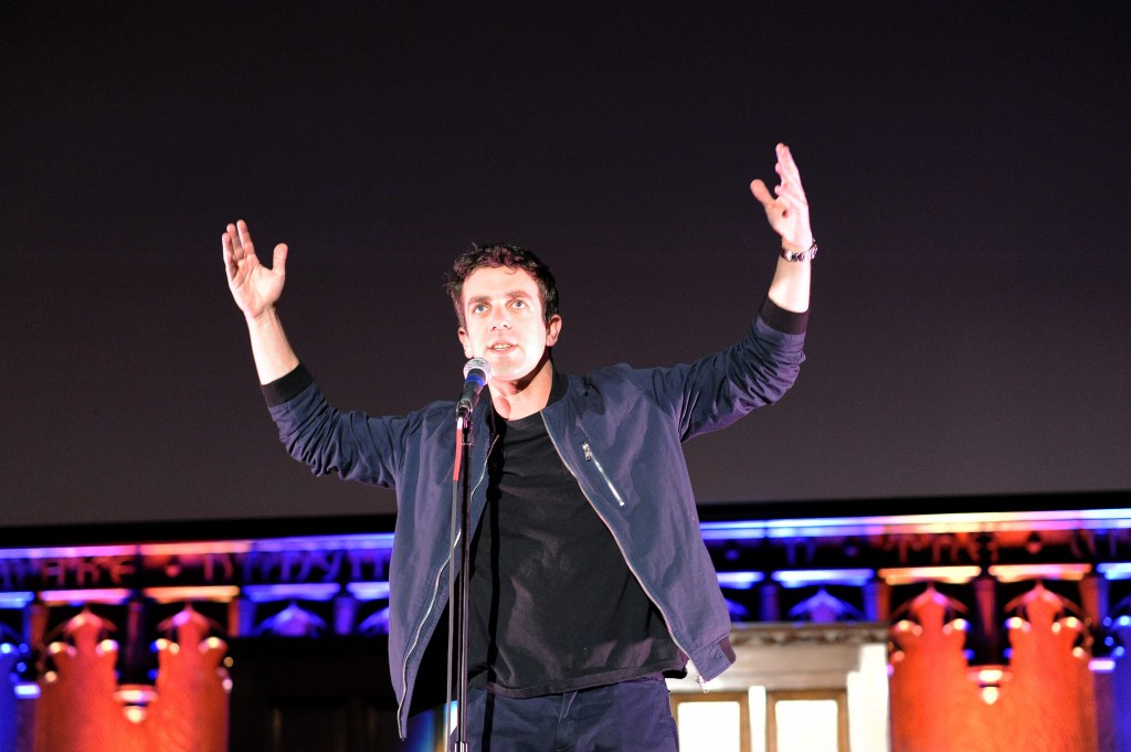 B. J. Novak performs